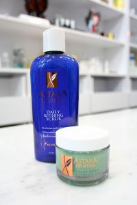 Green Papaya Mask and Daily Refining Scrub by Astara