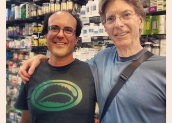 Phil Lesh and Gary Alony inside Thompson Alchemists
