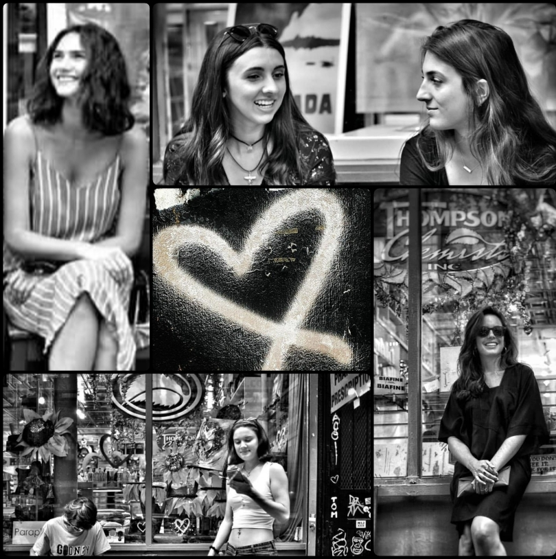 a collage of pictures of artists in front of Thompson Alchemists