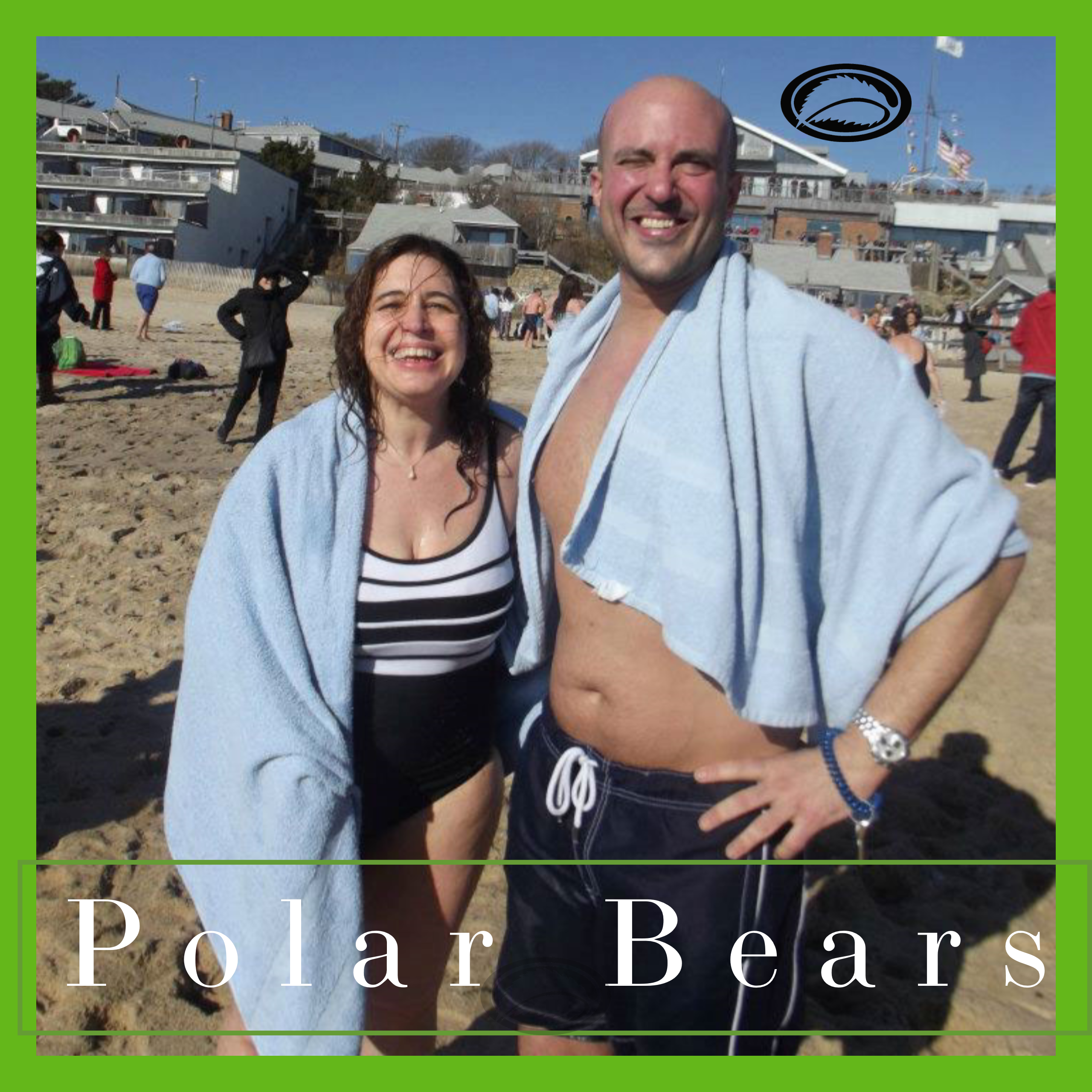 Gary and Jolie Alony, aka, Mama J and The Medicine Man,  Polar Bear swim January 1st