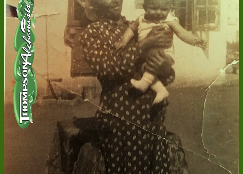 thompson alchemists owner greatgrandmother holding a baby